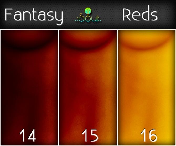 2014 Skintones Fantasy Reds