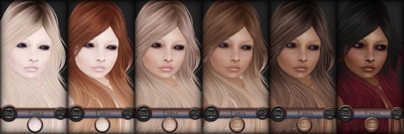 .:Soul:. Gen2F - Emma - Human System Skins & Head Appliers