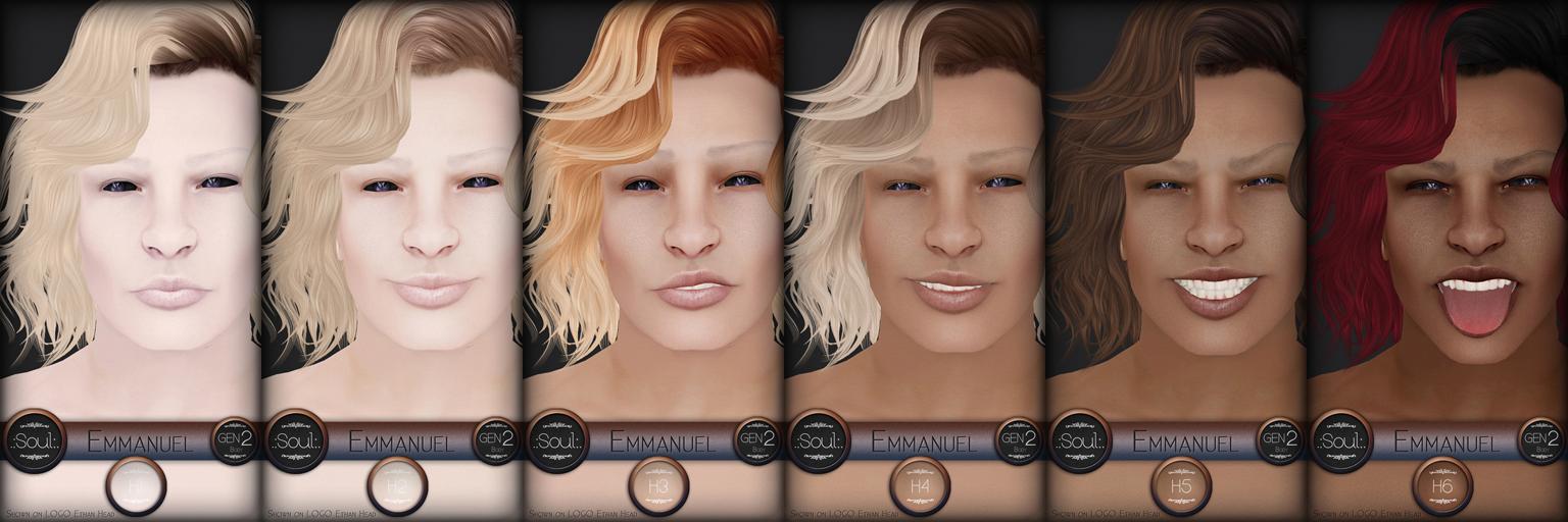 .:Soul:. Gen2F - Emmanuel - Human System Skins & Head Appliers